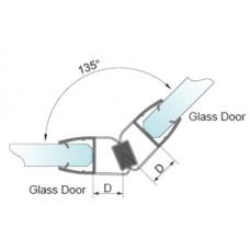 Blīvējums stiklam ar magnētu  P-2908