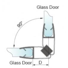 Blīvējums stiklam ar magnētu P-2909